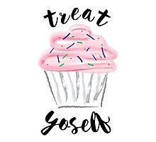 Treat Yoself Cupcake Photographic Print