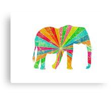 Retro Elephant Canvas Print