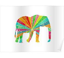 Retro Elephant Poster