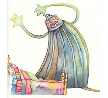 "The monster, illustration of the story ""backpack""  Photographic Print"