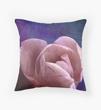 Painted tulip Throw Pillow