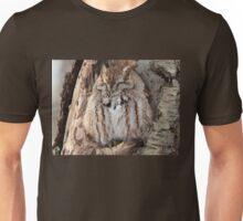 Sleepy Screech Owl Unisex T-Shirt