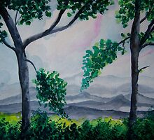 Blue Ridge Mountains by Debbie  Adams