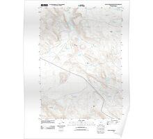 USGS Topo Map Oregon South Fork Reservoir 20110831 TM Poster