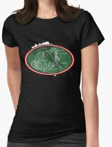 Desmo Valve Illustration Womens Fitted T-Shirt