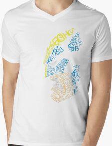 Wolverine Typography  Mens V-Neck T-Shirt