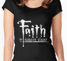 Faith the Vampire Slayer Women's Fitted Scoop T-Shirt