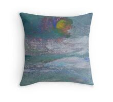 Cloud Moon Throw Pillow