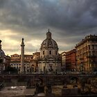 Clouds over Rome by Béla Török