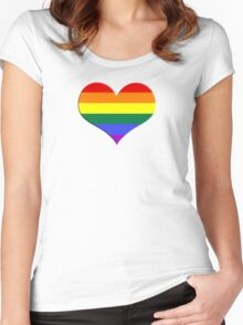 gay heart - gay, love, csd, rainbow, lesbian, pride Women's Fitted Scoop T-Shirt