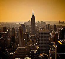 Dark Manhattan Skyline by SOMATUSCANI
