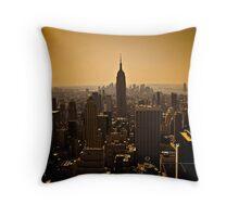 Dark Manhattan Skyline Throw Pillow