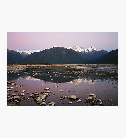 Cook River Sunset II, Fox Glacier, NZ Photographic Print