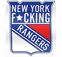 New York F*cking Rangers Logo T-Shirt Poster
