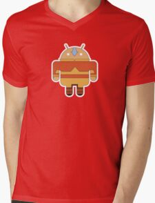 Aangdroid (no text) Mens V-Neck T-Shirt