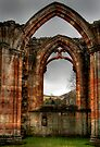 Looking Through the Window, Melrose Abbey by Christine Smith