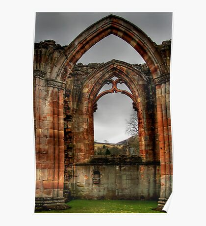 Looking Through the Window, Melrose Abbey Poster