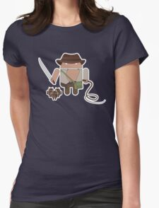 Indiana Jones and the Temple of Droid (No Text) Womens Fitted T-Shirt