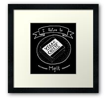 Vegan Cheese Framed Print