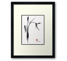 """Gentle Soul"" Chinese japanese ink brush pen painting Framed Print"