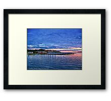 Edmonds Harbor Framed Print