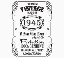Premium Vintage Made In 1945 by tshiart
