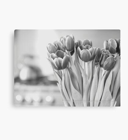 Tulips & Teapot Canvas Print