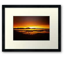 Willow Lake Orange Framed Print