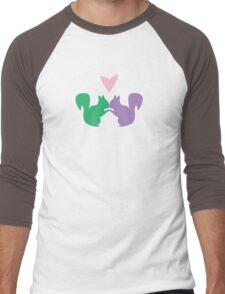 Squirrel Love Men's Baseball ¾ T-Shirt
