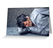 Down and out. Greeting Card