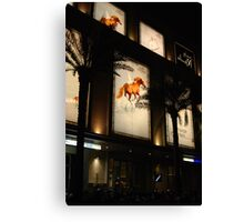 Equine advertising Canvas Print