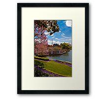 La ville de l'amour (The City of Love) .... Disney Style Framed Print