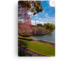 La ville de l'amour (The City of Love) .... Disney Style Canvas Print