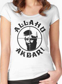 Osama bin Shot! Women's Fitted Scoop T-Shirt