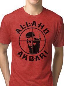 Osama bin Shot! Tri-blend T-Shirt