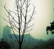 foggy autumn morning at the cathedral by greg angus