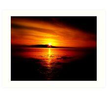 Sunset Waterscape Art Print