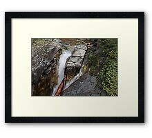 Water Carving Through Time  Framed Print