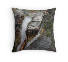 Water Carving Through Time  Throw Pillow