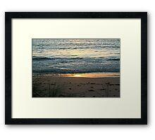 Coloured sand  Framed Print