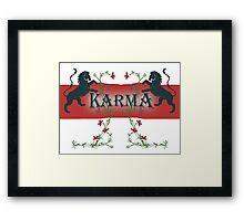 KARMA Framed Print
