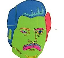 Ron Swanson Post-it Pop Art by thejellyjammers