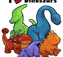I <3 Dinosaurs by Jeff Powers Illustration