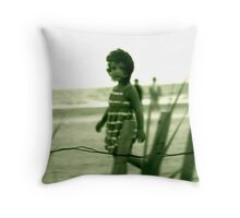 Behind the Barbed Wire Throw Pillow