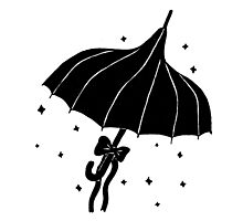 Goth Umbrella Photographic Print