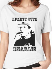 I Party With Charlie Women's Relaxed Fit T-Shirt