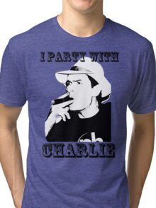 I Party With Charlie Tri-blend T-Shirt