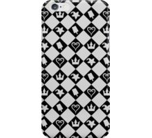 Checkered Pattern with Symbols iPhone Case/Skin