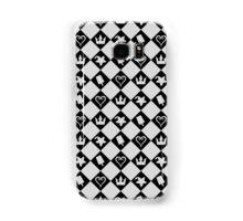 Checkered Pattern with Symbols Samsung Galaxy Case/Skin