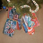 Gift bags under the tree 2 by Penny Hetherington